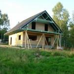 Nízkoenergetická dřevostavba s vazníkovou konstrukcí - Cvikov